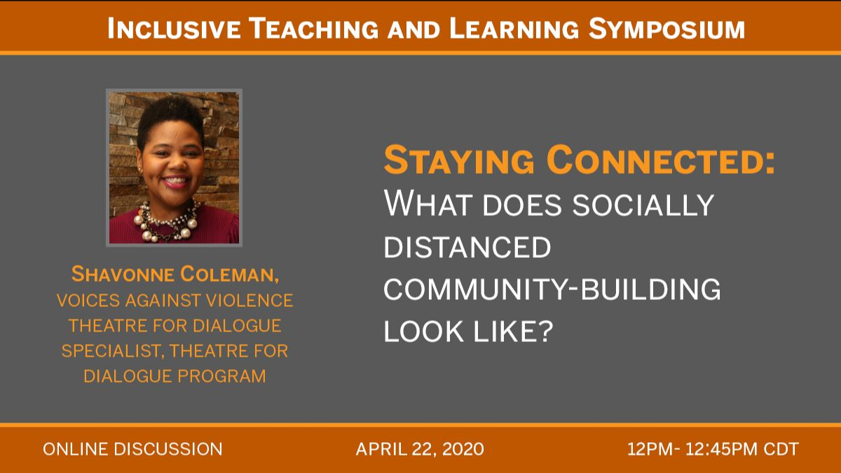 4/22 12pm to 12:45am online discussion for stay connected