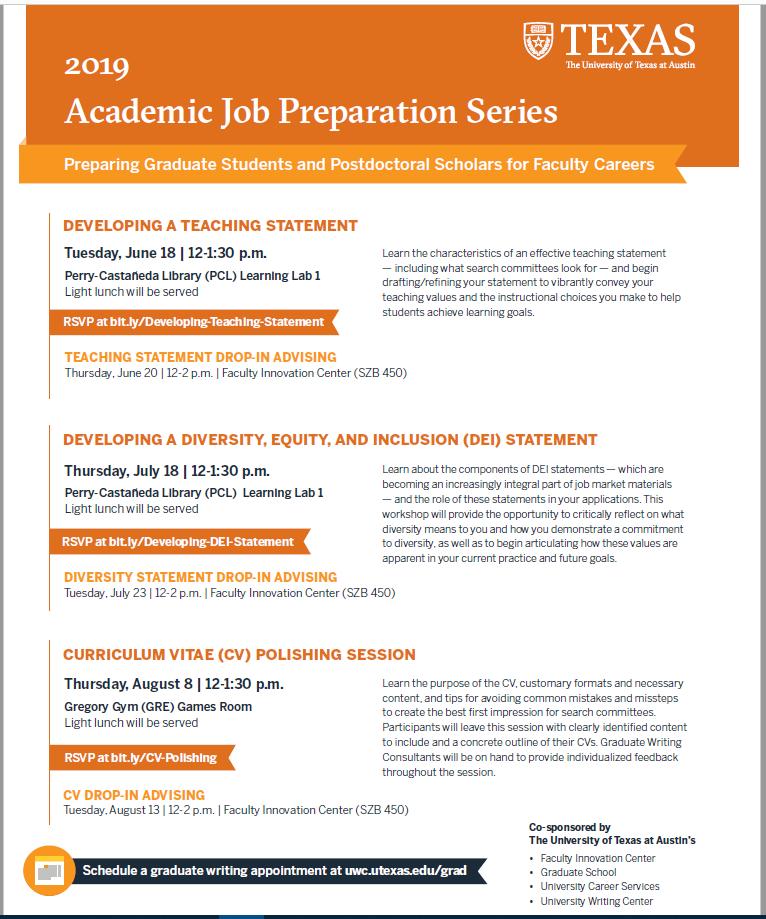 job prep series flier