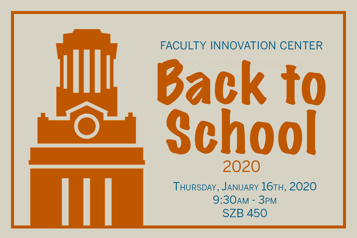 Poster for FIC back to school 2020